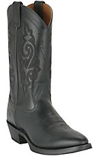 Double H Boots Men's Black R-Toe Western Boots