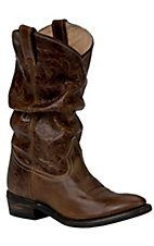Double H Sonora Ladies Vintage Tan Brown Slouch Western Boots