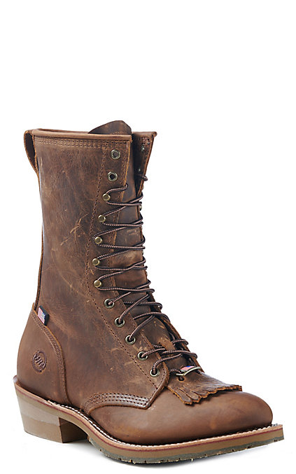 732920bb87e Double H Men's Old Town Folklore Round Toe Lace Up Work Boot