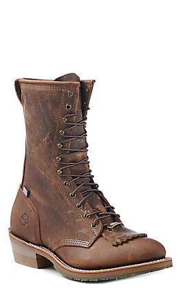 Double H Men's Old Town Folklore Round Toe Lace Up Work Boot