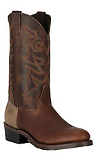 Double H Men's Tobacco Snakebite ICE Round Toe Western Boots