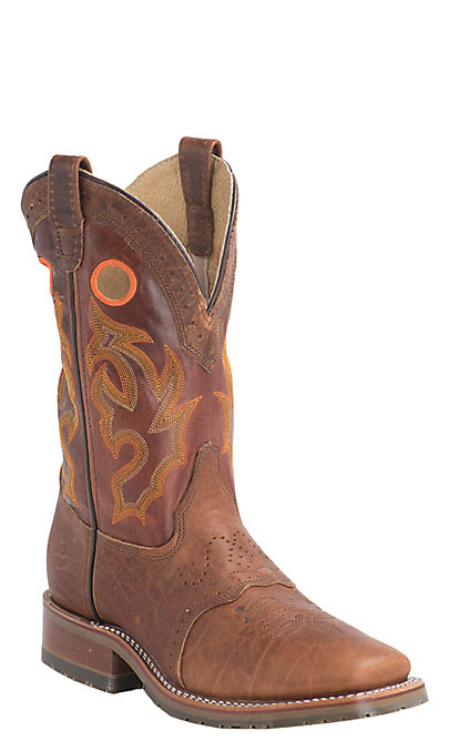 c34fe9818bb Double H Men's Peanut Bison Square Toe Western ICE Boots