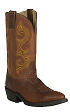 Double H Boots Men's Mustang Rust R-Toe Western Boots