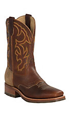 Double H ICE Collection Men's Rust Snakebite Saddle Vamp Square Toe Western Boot