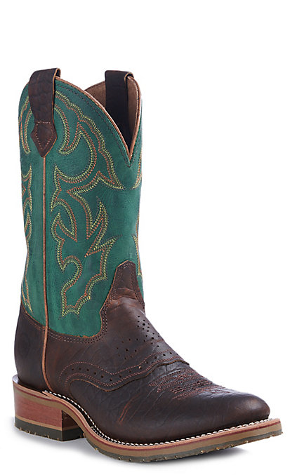 d864a9317a3 Double H Men's I.C.E. Brown Bison Folklore Round Toe Western Boots