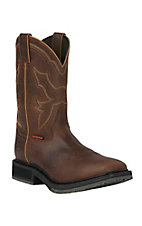 Double H Ice Collection Mens Brown Wide Square Composite Toe Work Boots