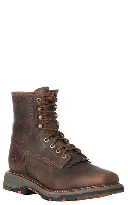 4eb9d1ba951dd Double H Isiah Men's Chestnut Wide Square Composite Toe 8