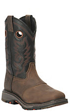 Double H Men's Dark Beige with Black Ice Square Toe Western Boot