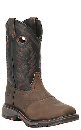Double H Men's ICE Collection Isaac Dark Beige and Black Wide Square Composite Toe Work Boot