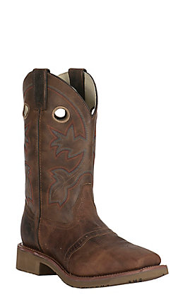 Double H Men's ICE Collection Antonio Earthquake Rust Brown Square Toe Western Boot