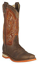 Double H Women's Rushmore Bison w/ Brompton Chestnut Top Saddle Vamp Square Toe Western Boots