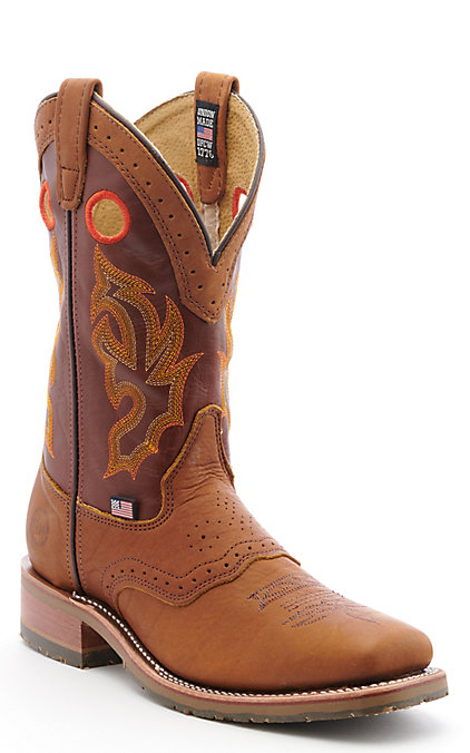 dcabb0e3fab Double H ICE Collection Men's Peanut Bison Square Steel Toe Roper Work Boot
