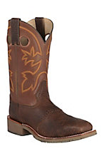 Double H Men's Mustang Rust Saddle Vamp Square Steel Toe Western Work Boots