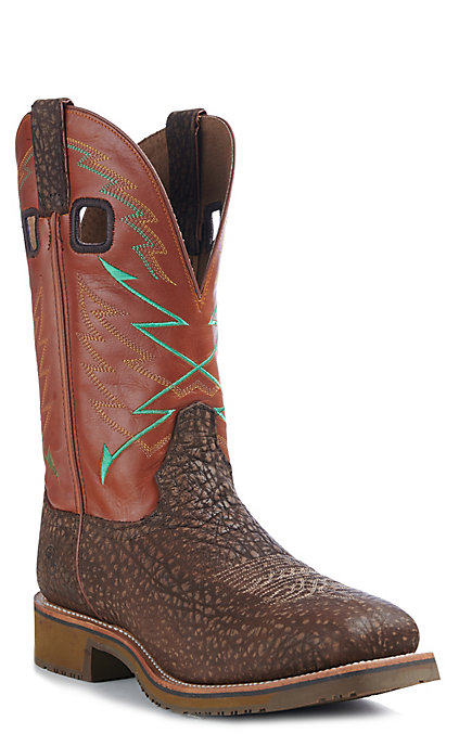 4719ff24ad6 Double H Odgar Men's Burnt Orange and Bullhide Square Steel Toe Work Boots