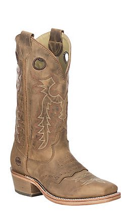Double H Men's Folklore Tan Buckaroo Western Square Toe Boots