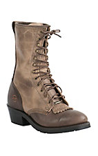 Double H AG7 Packer Men's Alamo Cafe U Toe Lace-Up Work Boot