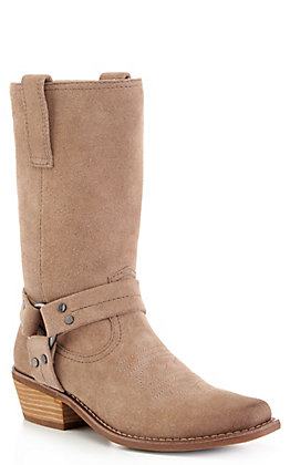 Dingo Women's Taupe Medium Snip Toe Harness Boots
