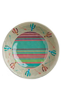 HiEnd Accents Cactus Serape Print Bowl
