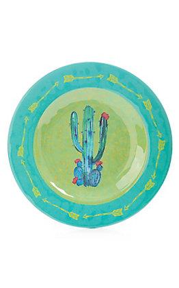 HiEnd Accents Cactus Serape Print Salad Plate