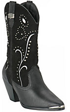 Dingo Ladies Fancy Black Fashion Boots