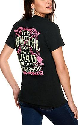 Girlie Girl Originals Women's Black Load More Than a Dishwasher Short Sleeve T-Shirt