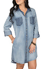 Dear John Women's Light Wash Denim Leilani James Dress
