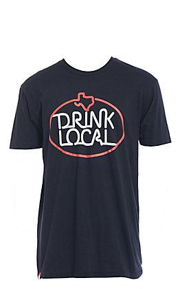 Tumbleweed Texstyles Men's Black Drink Local Short Sleeve Tee