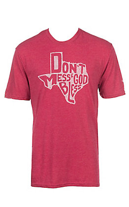Men's Don't Mess and God Bless Red T-Shirt