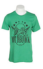 Mason Jar Label Men's Green Don't Tread On Me Short Sleeve T-Shirt