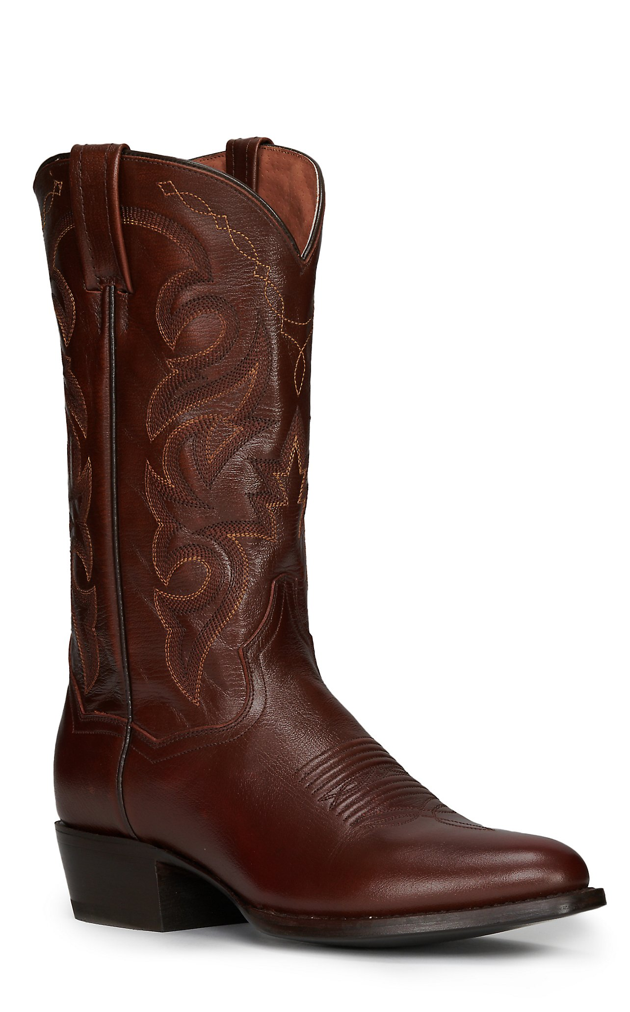 Leather Western Traditional Toe Boots   Cavender&39s