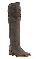 Dan Post Women's Sanded Brown with Tall Top Square Toe Western Boots
