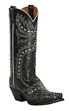 Dan Post Women's Black Sidewinder Snip Toe Western Boots