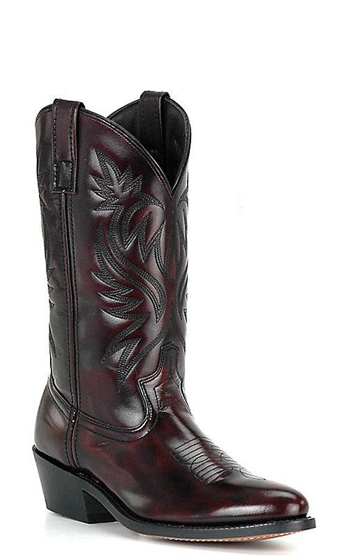 4ff9c088242 Dan Post Men's Black Cherry Round Toe Western Boots