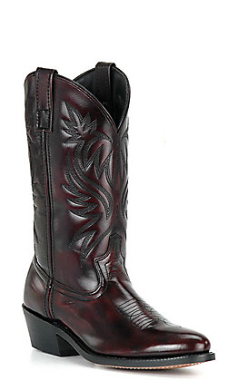 Dan Post Men's Black Cherry Round Toe Western Boots