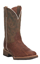 Dan Post Men's Cognac with Tan Upper Western Round Toe Boots