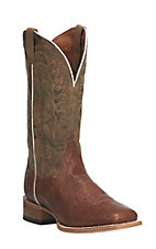 Dan Post Men's Cognac with Tan Upper Western Square Toe Boots