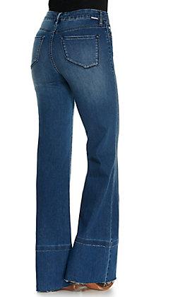 Dear John Women's Demy Medium Wash Fashion Flare Leg Jeans