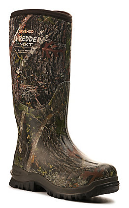 Dryshod Men's Shredder MXT Camo Waterproof Round Toe Rubber Hunting Boot