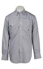 Miller Ranch by Cinch Men's Black and White Plaid L/S Shirt