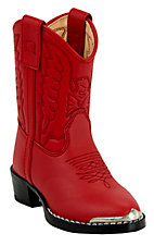 Durango Toddler Silver Tip Western Boots - Red