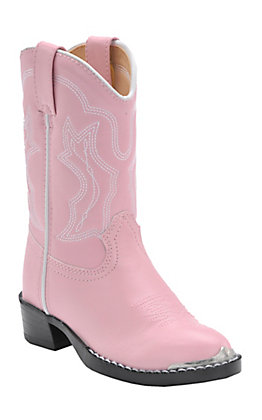 Durango Kids' Pink Traditional Toe Western Boots