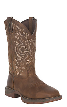 Men's Durango Brown Rebel Square Toe Work Boot