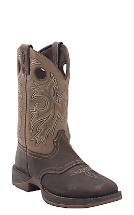 Durango Men's Rebel Distressed Brown and Tan Double Welt Square Toe Western Boot