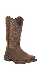 Durango Rebel Men's Brown Pull-On Western Square Toe Boot