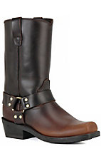 Durango Mens Chip Toe Brown Harness Boots