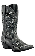 Durango Gambler Men's Charcoal Debossed Snip Toe Western Boot