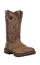 XAN Durango Rebel Men's Distressed Bark Brown Top Double Welt Round Toe Western Boots