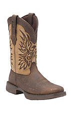 Durango Rebel Men's Distressed Brown Wingman Double Welt Square Toe Western Boots