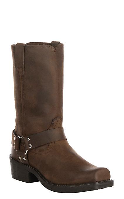 4d2fb953c55 Durango Men's Distressed Brown Harness Square Toe Boots