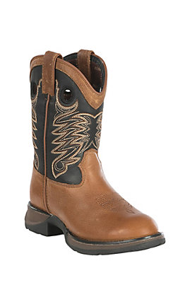 Durango Boys Tan Rebel Round Toe Work Boot